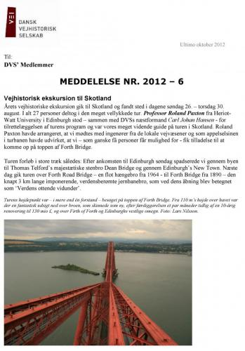 Ekskursion til Skotland 2012