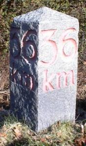 36 km på to sider af stenen