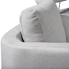 Light Gray Fabric Sectional Sofa Beds For Sale Cheap Italian Design Circular Grey