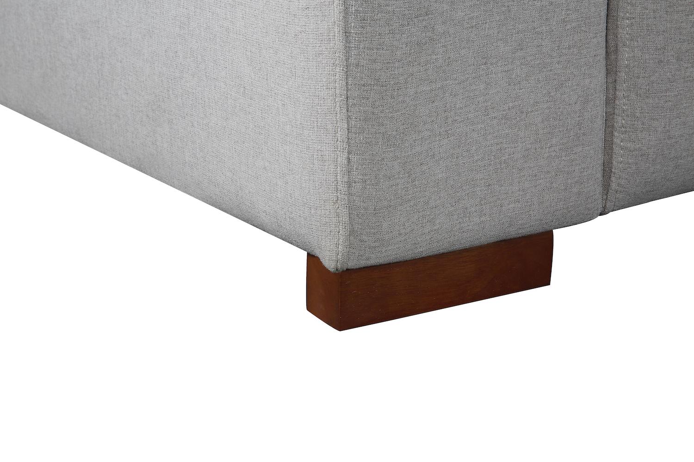 light gray fabric sectional sofa florence knoll deep seating grey