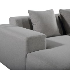 Light Gray Fabric Sectional Sofa Living Room Ideas With Black Leather Sofas Deep Seating Grey