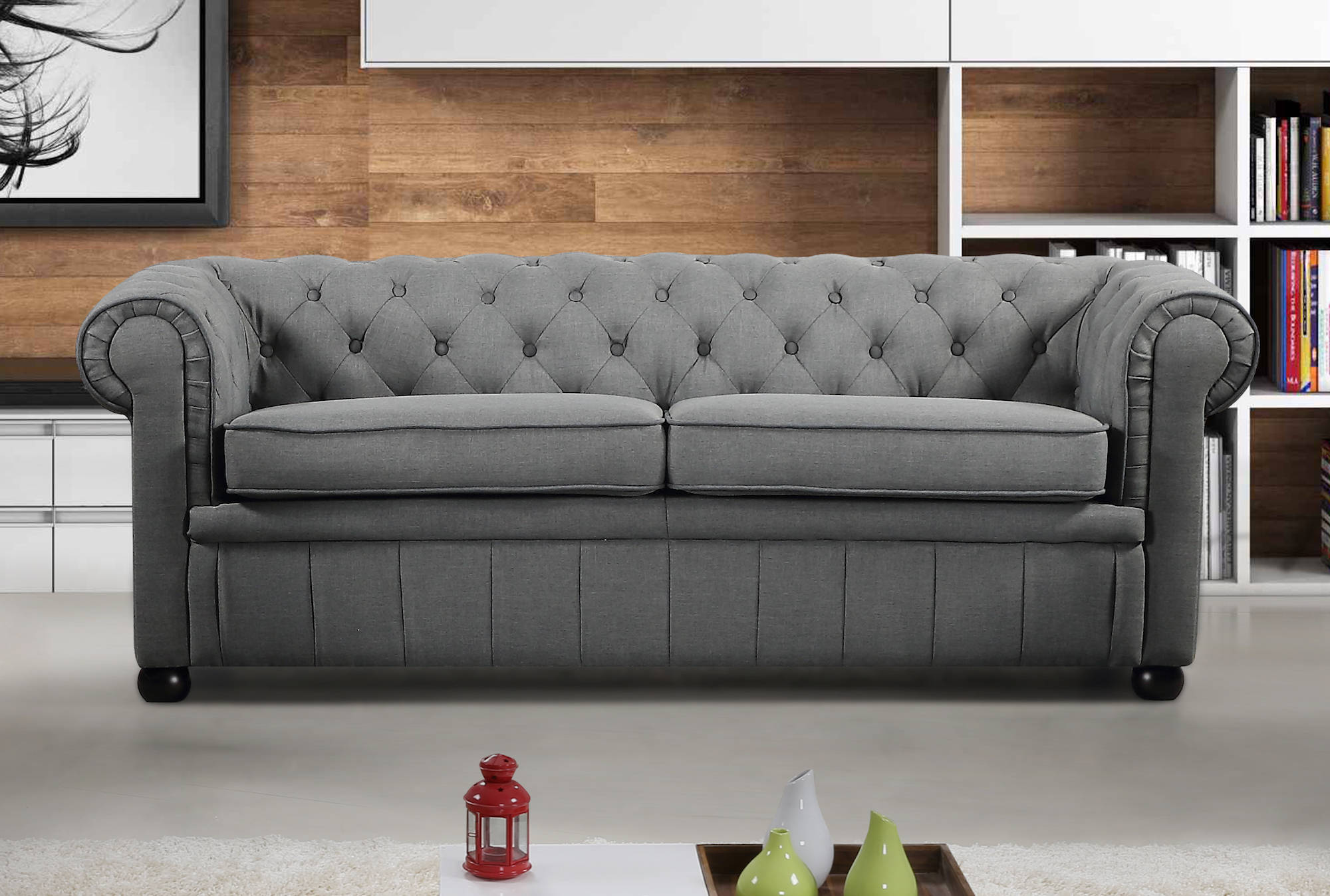 chesterfield style fabric sofa cleaning services in gurgaon modern dark grey