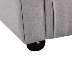 Light Grey Chesterfield Sofa Natuzzi Leather And Loveseat Modern Style Fabric