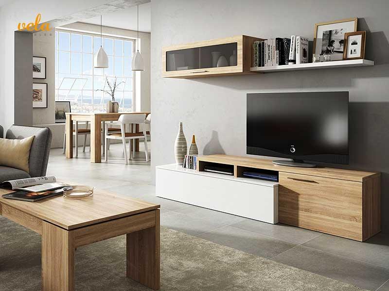 Muebles SALON Modernos BARATOS  Con Chimenea Modernos