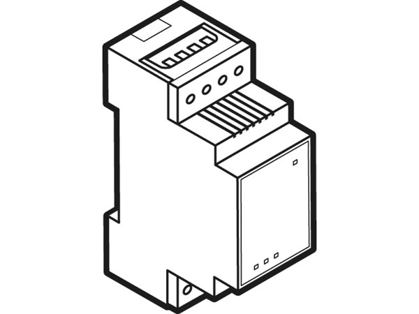 Single channel relay module with potential-free changeover