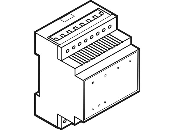 Two-channel blind control module with extended