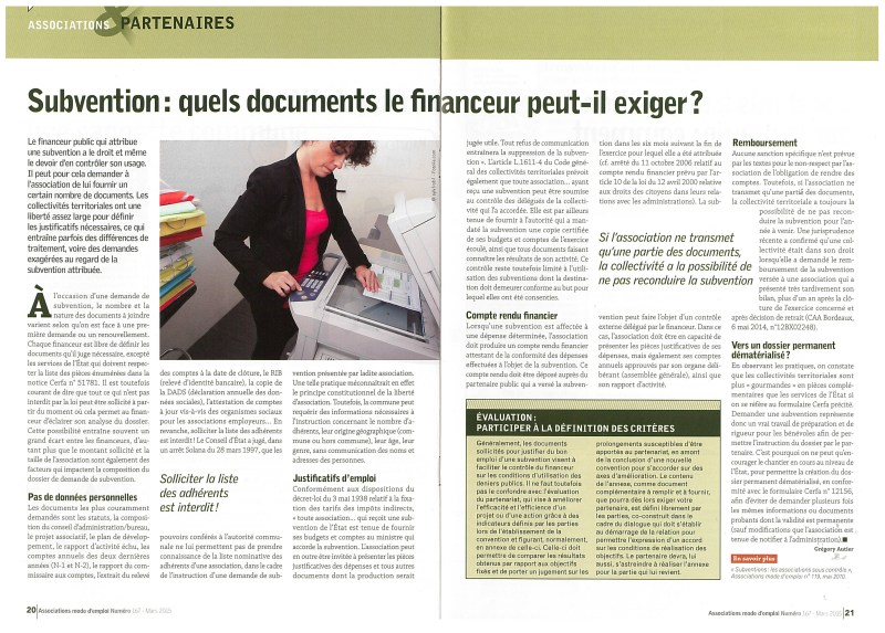 subvention quel document peut exiger...