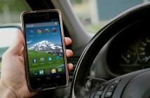 řízení v Anglii s mobilem, telefonem