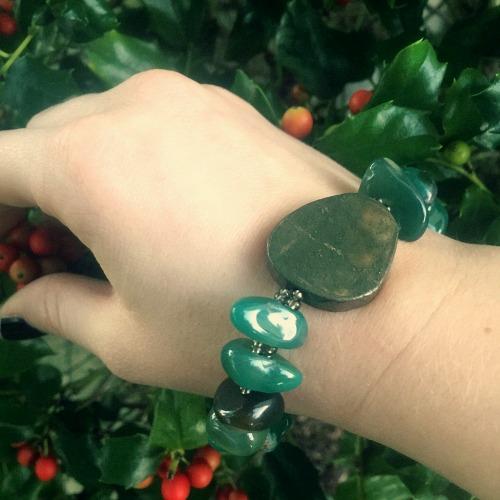 Wear an abundance attracting bracelet when you go magickal thrift shopping