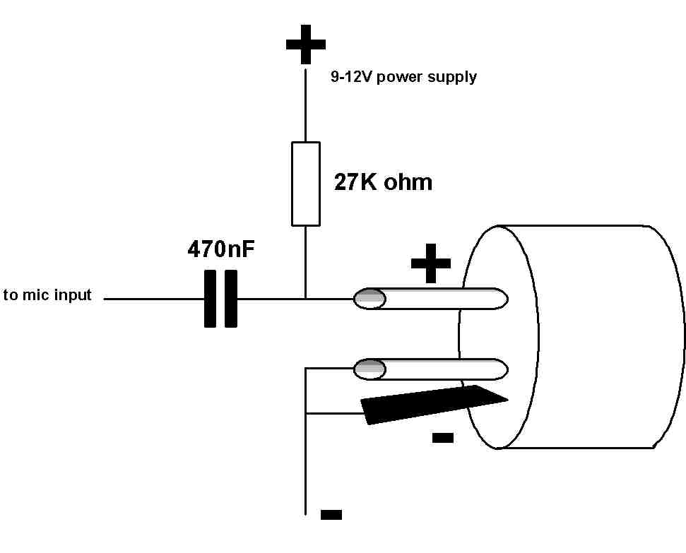 K1803 Building a mic pre-amp to connect a cond. mic to XLR