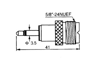 CU13: PL FEMALE TO 3.5mm MALE MONO JACK