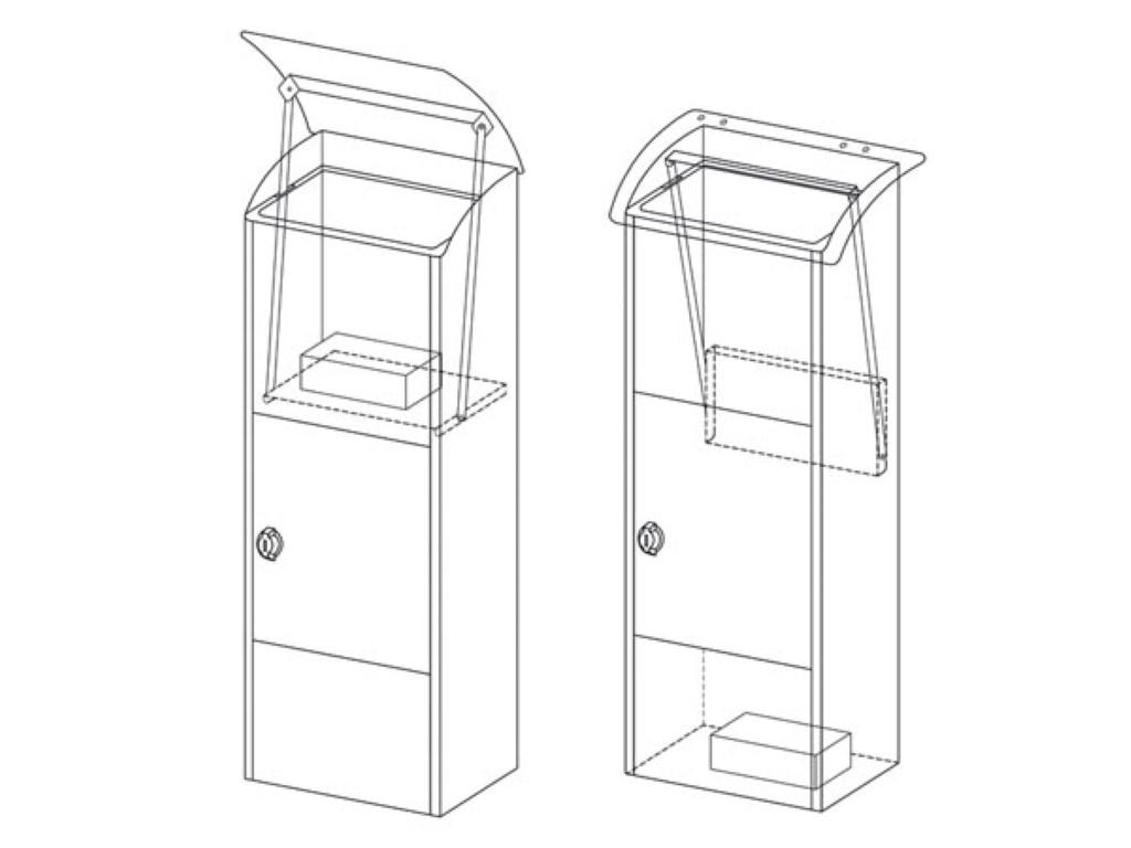 BG57000: PARCEL DROP BOX - HELSINKI - DARK GREY