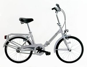 Frejus MICROBIKE GRAZIELLA 20″ – Vélo pliant unisex 1 vitesse, acier, blanc