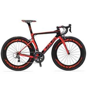 SAVADECK Phantom 2.0 700C Vélo de Route Fibre de Carbone SHIMANO 6800 22-Vitesses Système HUTCHINSON 700C*25C Pneus Fi'zi: k Coussin (Rouge,540mm)