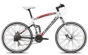 'Torpado vélo VTT Full suv9926«Alu 3x 7V Disque taille 44Blanc Rouge V17(VTT biammortizzate)/Bicycle VTT Full suv9926alu 3x 7S disc Size 44white red V17(VTT Full Suspension)