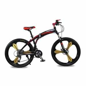 VTT semi-rigide Vélos plaints Hommes vélo Cadre en aluminium 26 pouces Shimano 27 Vitesses Magnésium intégré roue 3 Rayons Rich Bit® RT-601 Rouge