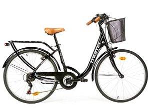 Vélo de Ville SHIMANO. Aluminium, 18 vitesses, roues de 26″