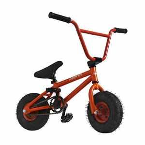 AnaellePandamoto Mini Vélo BMX Freestyle avec 3 Pièces Manivelle de 10 Pouce, Selle avec Hauteur Réglable pour Adulte, Taille: 79*73*69cm, Poids: 11kg (Orange)