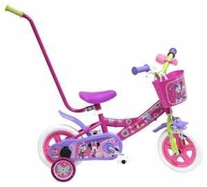Disney Minnie Mouse Vélo Enfant Rouge 10″ avec Canne