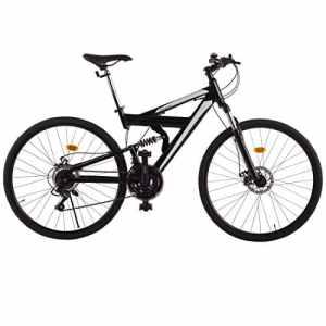 Ultrasport VTT en aluminium 28pouces, vélo, vélo de randonnée, vélo en aluminium, dérailleur Shimano à 21plateaux, cadre en aluminium, bras oscillant en acier (suspension totale), fourche réglable, freins à disque devant et derrière, totalement suspendu