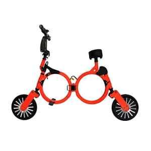 Vélo électrique pliant avec batterie lithium rechargeable 48V (ORANGE), Trottinette électrique pliant NEOFOLD, Scooter electrique 20 km/h