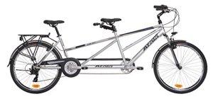 Vélo Tandem atala deux gris/bleu mat 21V mesure 26«
