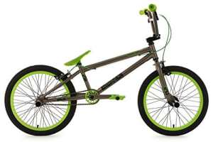 KS Cycling Vélo BMX Freestyle Gris/Vert 20″