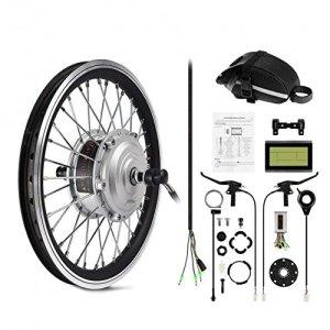 AFTERPARTZ® Electrique Byclette Moteur Kit Conversion électrique LCD roue avant Pedelec 36V 250W de conver e-vélo (20″)