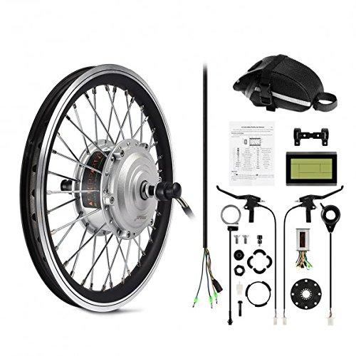 afterpartz electrique byclette moteur kit conversion lectrique lcd roue avant pedelec 36v 250w