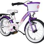 BIKESTAR Vélo enfant pour garcons et filles de 4 – 5 ans ★ Bicyclette enfant 16 pouces classique avec freins ★ Lilas & Blanc