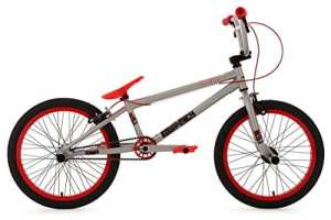 KS Cycling Vélo BMX Freestyle Gris/Rouge 20″