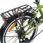 Vélo pliant 20″ Viking Metropolis, vélo de camping, vert