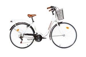 Moma Bikes BIC28BUN Vélo de Ville Mixte Adulte, Blanc