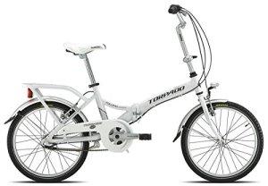 Torpado Vélo pliant 20″ en alu, 1vitesse, blanc