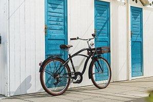 Vélo MBM MAUI 2016 cruiser homme (Noir opaque, 26″)