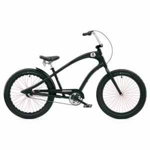 Electra Straight 8 3i Cruiser Men's Messieurs 3 vitesses vélo Cruiser Noir Black, electra2302