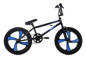 KS Cycling BMX Freestyle Démon Vélo, noir/bleu, 20