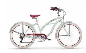 MBM Honolulu, vélo Cruiser Femme, Femme, 125D/18, Menta A13, 26″