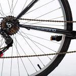 Moma Bikes 280 Vélo de Ville 26″, Shimano 6V, Freins V-Brake Aluminium. Mixte Adulte, Noir, Unique