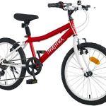Moma Bikes équipé Shimano Vélo de 20″ SHIMANDO 7 Vitesses, Ideal pour Enfant a partir de 120 a 135cm Mixte, Rouge