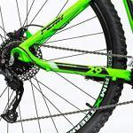 Moma Bikes Peak Vélo VTT 29″, Aluminium, Altus 27V, Freins a Disque Hydraulique Shimano, Suspension Avant avec bloquage Mixte Adulte, Vert, M