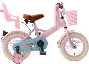 Vélo Enfant Fille Popal Little Miss 12 Pouces Frein à Rétropédalage Roues de Stabilisation Rose