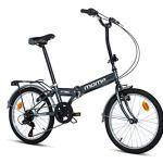 Moma Bikes Vélo de Ville Pliant, Street Adulte Unisexe, Gris, Unic Size
