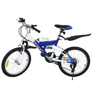 MuGuang 6 Vitesses 20 Pouces Enfant Vélo de Montagne Venez avec Bouilloire 500cc pour Les Enfants de 7 à 12 Ans Mountain Bike (Bleu)