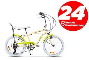 Ape Rider Vélo pour Femme – Vélo Comfort 7 Vitesses – Hauteur recommandée 140-170 cm, Garçon, Ivoire