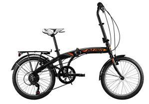 Atala Modèle 2020 Vélo Pliable Ultra Compact Blue Lake 20″, Couleur Noir – Orange, 6 Vitesses