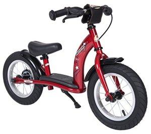 Bikestar Vélo Draisienne Enfants pour Garcons et Filles DE 2-3 Ans ★ Vélo sans pédales évolutive 12 Pouces Classique ★ Rouge