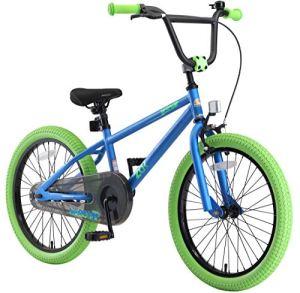 BIKESTAR Vélo Enfant pour Garcons et Filles de 6 Ans | Bicyclette Enfant 20 Pouces BMX avec Freins | Bleu & Vert