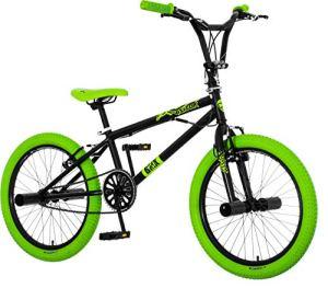breluxx® Vélo BMX Venera 360 ° Freestyle avec Pegs Noir 20 Pouces