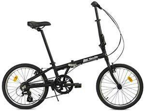 FabricBike Vélo Pliant, Cadre en Alliage, Mono-Vitesse, 3 Couleurs (Fully Matte Black 7 Speed)
